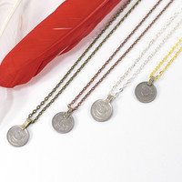 Coin Necklace Indian Money Coin Boho Gypsy Chain Pendant Necklace Made To Order Customizable