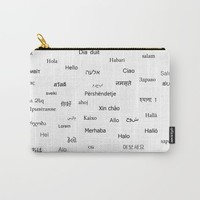 Hello word Carry-All Pouch by Claude Gariepy