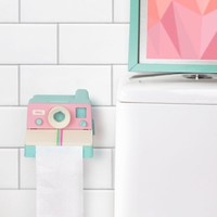 Pastel Polaroll - Polaroid Camera Toilet Paper Holder
