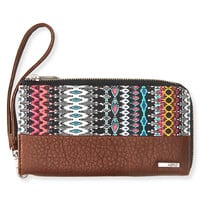 Printed Zippered Wallet