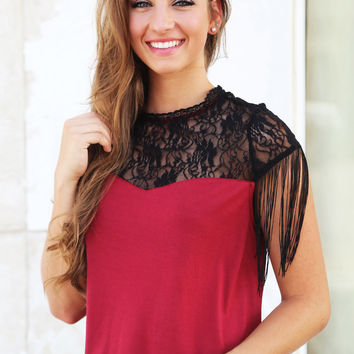 Lovely In Lace {Burgundy}