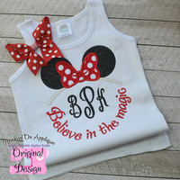 Minnie- Inspired Monogram Tiara with Phrase - Princess Movie - Custom Tee