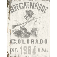 Personalized Breckenridge Colorado Wood Sign