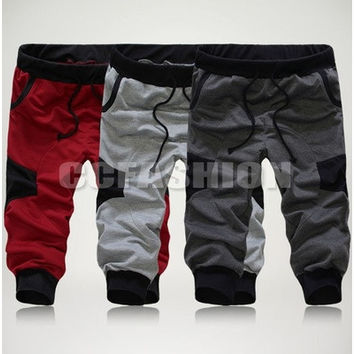 New Fashion Mens Stylish Casual Sport Baggy Cropped Shorts Pants Jogging Trousers 3 Colors Size M-XXL [9222385284]