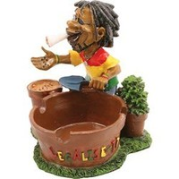Jamaican Man Holding Ashtray (LT121)