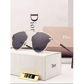 Dior Trending Ladies Personality Summer Sun Shades Eyeglasses Glasses Sunglasses Black I-A-SDYJ