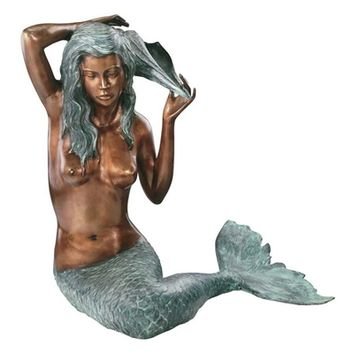 SheilaShrubs.com: Large Mermaid of the Isle of Capri SU4030 by Design Toscano: Garden Sculptures & Statues