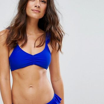Raisins Frill Strap Triangle Bikini Top at asos.com