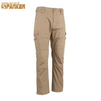 EXCELLENT ELITE SPANKER Outdoor Camo Men's Pants Hunting Army Green Trouser Tactical Combat Sport Anti Splash Water Male Pants