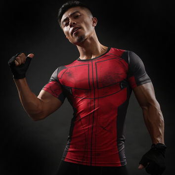 Fun Deadpool Shirt Tee 3D Printed T-shirts Men Fitness Gym Clothing Male Tops Funny T Shirt Superman Deadpool Costume Display