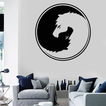 Wall Stickers Vinyl Decal Yin And Yang Animal Horse Symbol Yoga Zen Unique Gift (z2046)