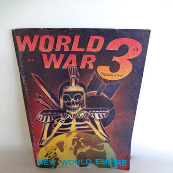 Vintage Comic World War 3 Illustrated New World Empire Number 14 Good Condition Signed By Peter Kuper On Front Cover