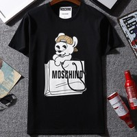 Moschino Woman Men Fashion Casual Shirt Top Tee-1