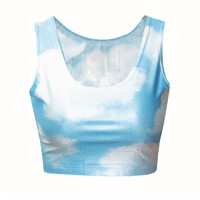 Blue Sky Crop Top