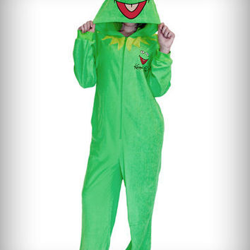 Kermit the Frog Adult Women's Hooded Pajama's