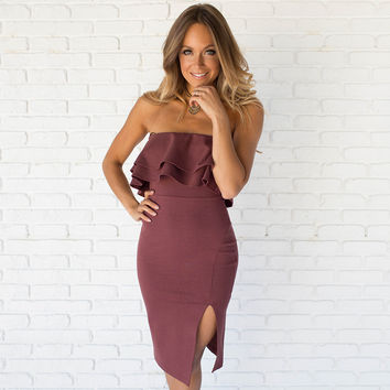 Lead The Way Dress In Mauve