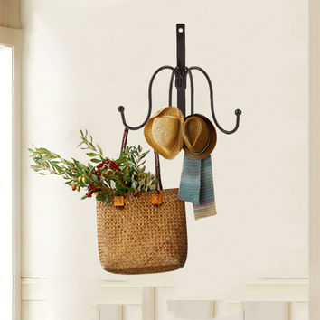 4 Hooks Clothing Hat Bag Hook Bathroom Indoor Accessories Multiple Color Robe Hooks Wall Hanger Hang Mounted Products