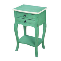 French Green / Cream End Table