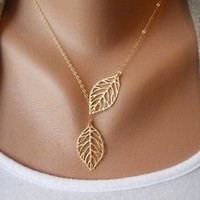 fancymall — simple fashion leaf necklace