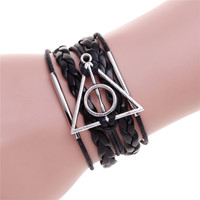 New Men Bracelets Anchor Bracelet Pulsera Infinit Bracelet Women Men Jewelry Gift Leather Bracelets Bangles Pulseiras Masculinas
