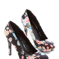 ModCloth Pump it Up Heel in Floral