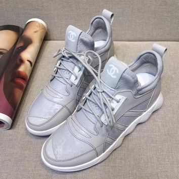 Chanel Women Fashion Breathable Sneakers Sport Shoes