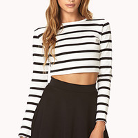 Shore Thing Striped Crop Top