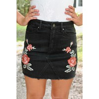 Alexa Denim Skirt | Black Denim