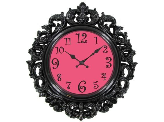 Black Amp Pink Victorian Style Wall Clock From Hobby Lobby