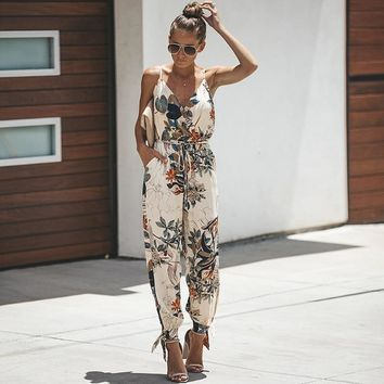 Women Summer Pants  Casual  Print   Loose  Ankle-Length Pants