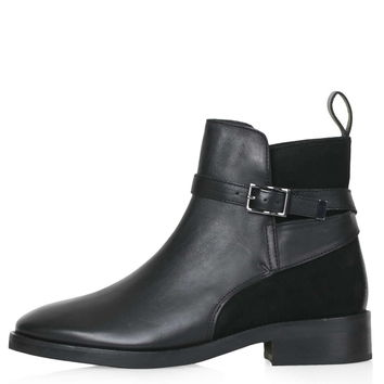 ANGELO Suede Panel Jodphur Ankle Boots - New In