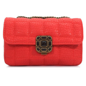 Quilted Shoulder Bag with Chain Strap