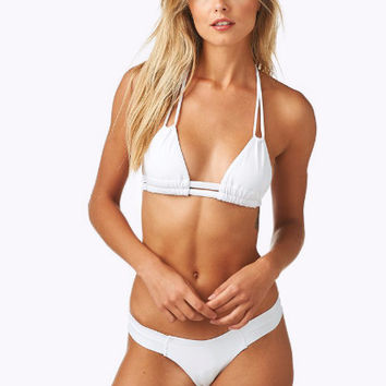 Montce Swim | Dopio Top x Uno Bottom Bikini Separates (White)