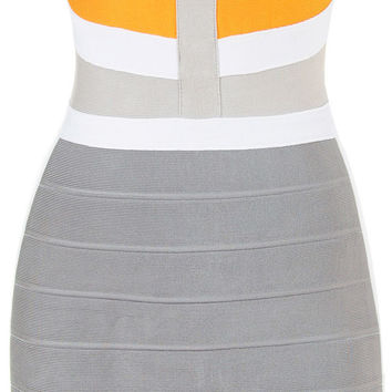 'Flame' Colorblock Bandage Dress