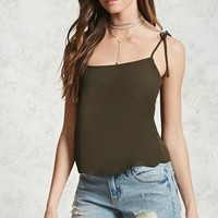 Tie-Strap Cropped Cami