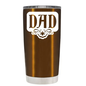Dad Plaque on Translucent Copper 20 oz Father's Day Tumbler Cup