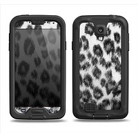 The Real Snow Leopard Hide Samsung Galaxy S4 LifeProof Fre Case Skin Set