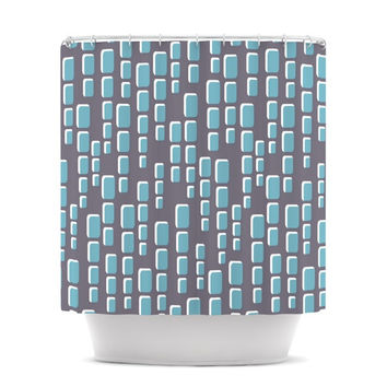 "Michelle Drew ""Cubic Geek Chic"" Shower Curtain"