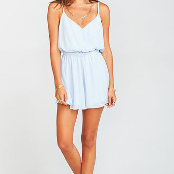 Olympia Romper ~ Periwinkle Chiffon