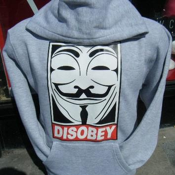 Disobey Hoodie Urban Hip Hop Fashion Jumper Obey OFWGKTA Supreme Vendetta YMCMB