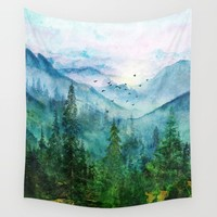Spring Mountainscape Wall Tapestry by nadja1