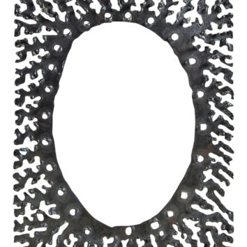 Brutalist Iron Picture or Mirror Frame