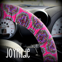 Steering Wheel Cover Hot Momma Morrocan Tiny Cordury Warm Winter Car or Truck Accessory
