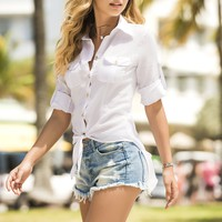 White Sheer Boating Top
