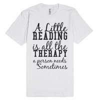 a little reading is all the therapy a person needs