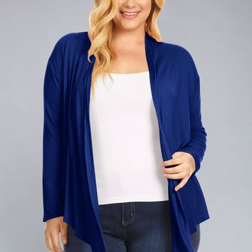 COZY DRAPE CARDIGAN - PLUS SIZE