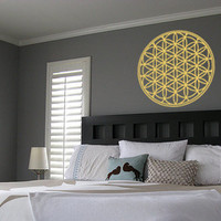 Flower Of Life Wall Decal Sticker Vinyl Art Room Decor Sacred Geometry Meditdation Decoration