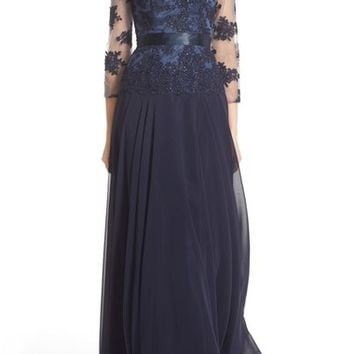 JS Collections Embellished Mock Two-Piece Gown | Nordstrom