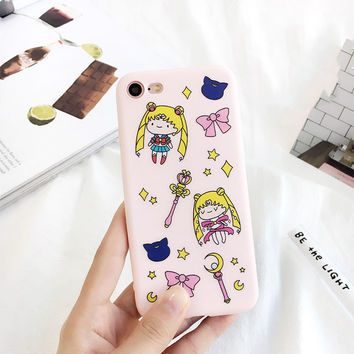 Sailor Moon Soft Pink Color iPhone Case