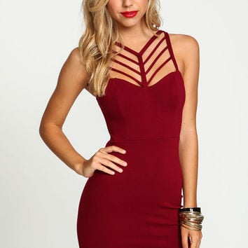 STRAPPY CAGE BODYCON DRESS